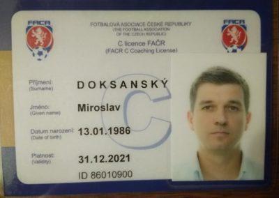 C licence - Miroslav Doksanský